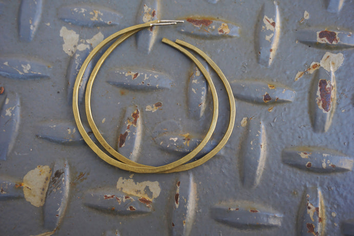 FORGED BRASS HOOPS