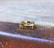 CUSTOM ID RING // GOLD PLATED