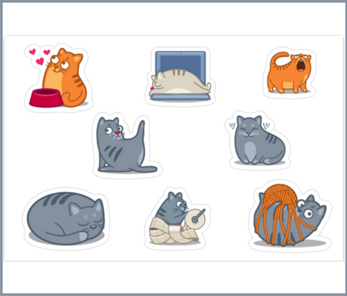 The Cat's Meow Stickers
