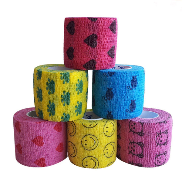 Self-Adhering Bandage Wraps 5cm wide - Decorated
