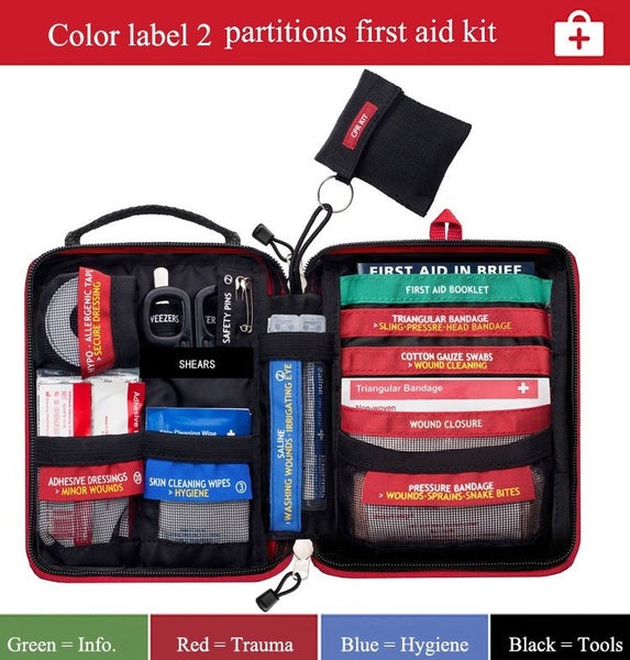 Partitioned - Mini First Aid Kits