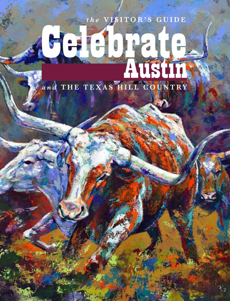 Longhorns Gone Wild by Robert Hurst Featured on the Cover of Celebrate Austin