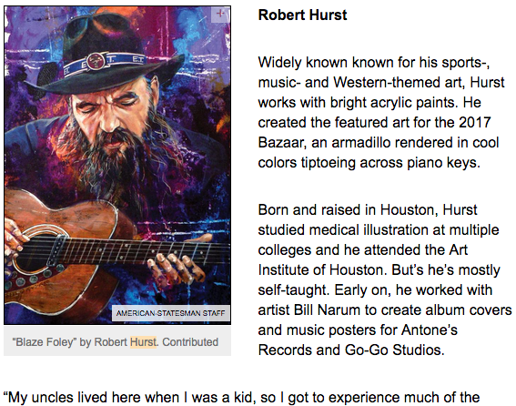 Robert Hurst Profiled in Austin American Statesman Article December 2017