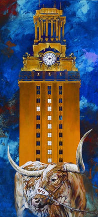 Code Orange: UT Tower with Bevo XIV Artwork