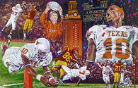 The End of a Perfect Season - artwork celebrating The University of Texas Longhorns 2005 Championship