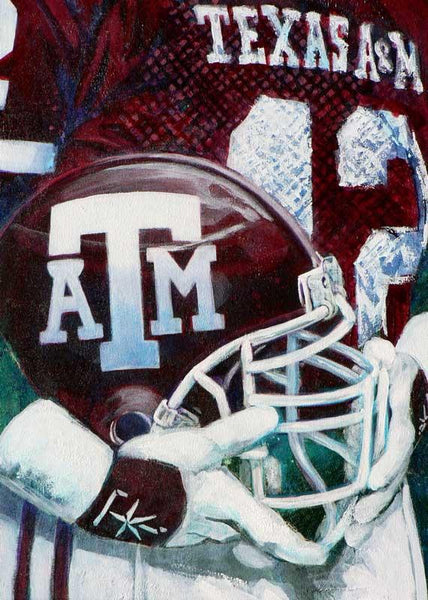 Custom Artwork Per Request - College Football Helmet Series: Texas A&M fine art print