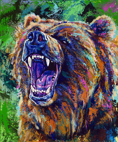 Bear limited edition canvas giclee print