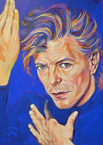 David Bowie in Purple fine art print