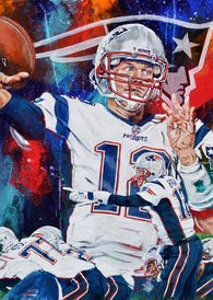 Tom Brady - New England Patriots fine art print