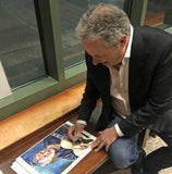 Jim Collins signing fine art print by Robert Hurst