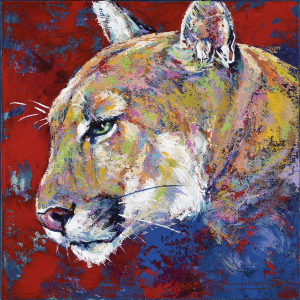UH Cougar Shasta limited edition canvas giclee print featuring a cougar