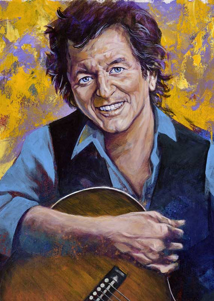 Rodney Crowell autographed limited edition fine art print signed by Crowell
