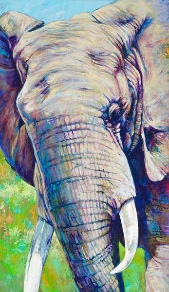 Elephant canvas giclee print fine art