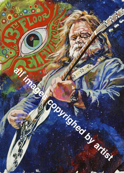 Roky Erickson The 13th Floor Elevators fine art print