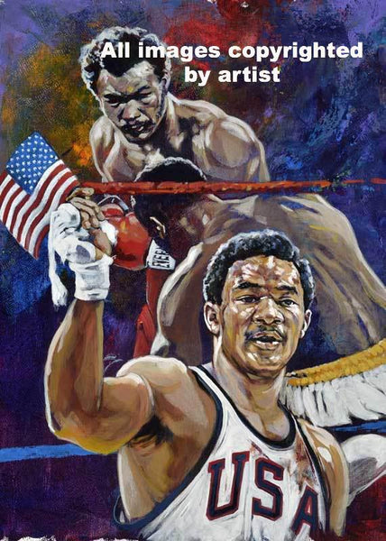George Foreman autographed fine art print signed by Foreman