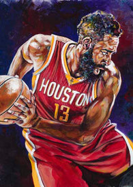 James Harden fine art print featuring Harden