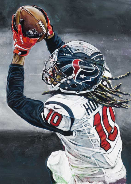 DeAndre Hopkins Texans fine art print featuring Hopkins