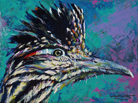Roadrunner limited edition canvas giclee print