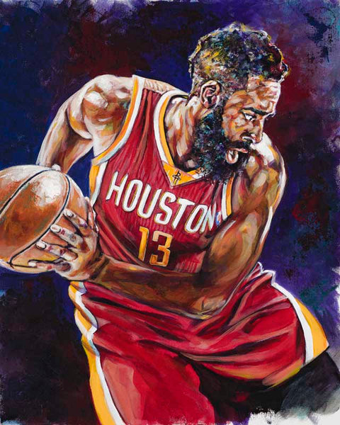 James Harden original painting featuring Harden by Robert Hurst