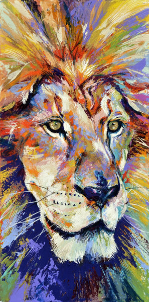 Lion fine art print, limited edition canvas giclee