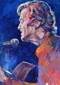 Mickey Newbury limited edition fine art print poster