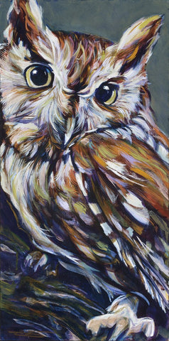 Owl AKA Owlivia original painting by Robert Hurst