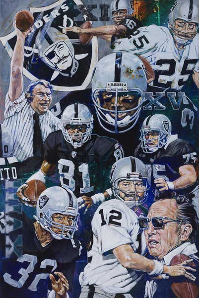 Oakland Raiders History fine art print featuring the Raiders