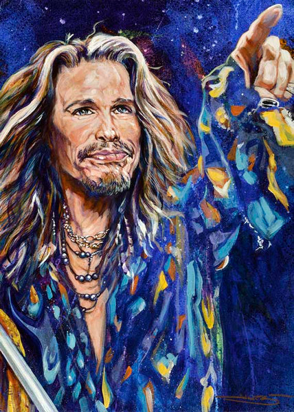 Steven Tyler fine art print and limited edition canvas giclee
