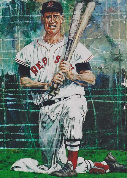 Ted Williams fine art print featuring Ted Williams