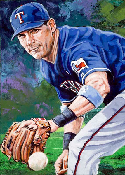 Michael Young autographed limited edition fine art print signed by Young