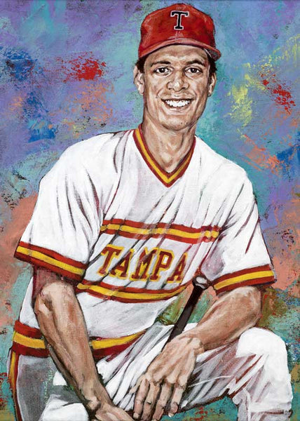 Tino Martinez - University of Tampa autographed fine art print signed by Martinez