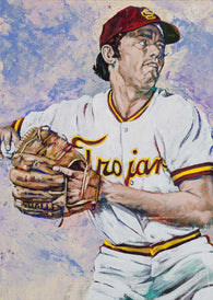 Roy Smalley - USC autographed fine art print signed by Smalley