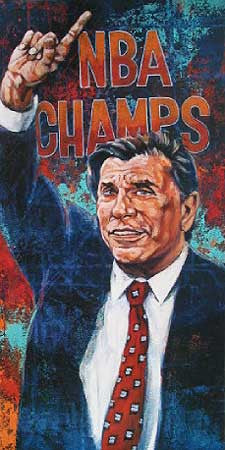 Rudy Tomjanovich autographed limited edition print
