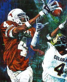 "Roy Williams ""Caught in Action"" autographed art print"