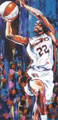 Sheryl Swoopes autographed limited edition print