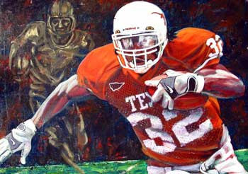 Cedric Benson with Doak Award fine art print