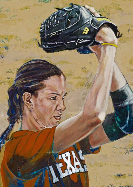 Cat Osterman autographed limited edition fine art print signed by Osterman
