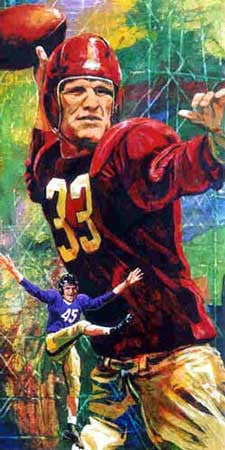 Sammy Baugh autographed limited edition print
