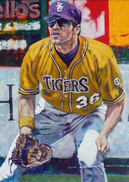 Eddy Furniss - LSU autographed limited edition print