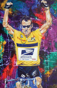 Finish Line fine art print featuring Lance Armstrong