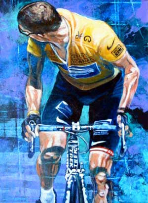 See Ya' Later fine art print featuring Lance Armstrong
