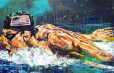 American Swimmer fine art print featuring Michael Phelps
