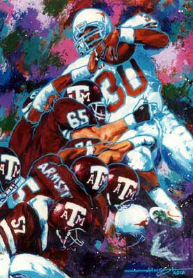 Aggie Pile fine art print featuring A & M College Football