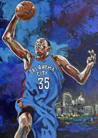 Durant Thunder fine art print featuring Kevin Durant