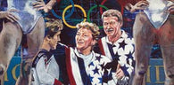 Bela and Martha Karolyi autographed limited edition print