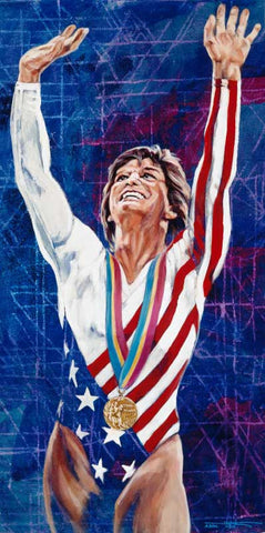 Mary Lou Retton autographed limited edition print