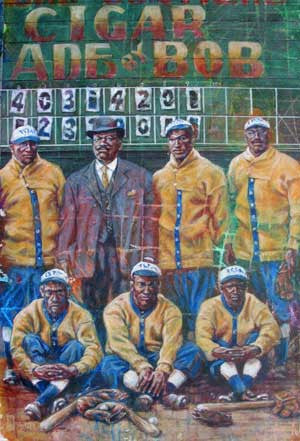 His Team - print celebrating The Negro Leagues