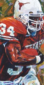 Ricky Running (Ricky Williams) fine art print