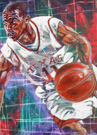 T J Ford UT Final 4 fine art print