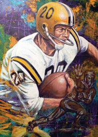 Billy Cannon LSU autographed fine art print